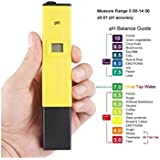 """PSI High Accuracy ±0.1pH 0.6"""" LCD Mini Digital Pen Style pH Meter Set - Color Assorted HHI-9887 with calibration powder"""