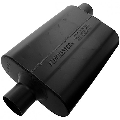 Flowmaster 942547 Super 44 Muffler - 2.50 Center IN / 2.50 Offset OUT - Aggressive Sound (Cherokee Flowmaster Muffler)