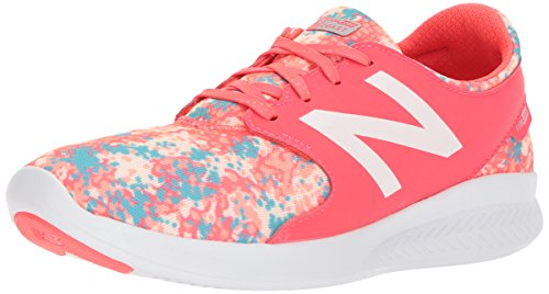 New Balance Girls' Coast v3 Running Shoe, Vivid Coral/Ozone Blue, 6.5 W US Big - Girls New Balance