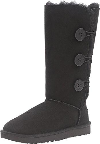 UGG Womens Bailey Button Triplet II Winter Boot, Black, 8 B US