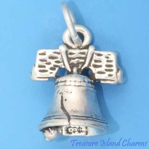 - Liberty Bell Philadelphia Pennsylvania 3D .925 Solid Sterling Silver Charm Ideal Gifts, Pendant, Charms, DIY Crafting, Gift Set from Heart by Wholesale Charms