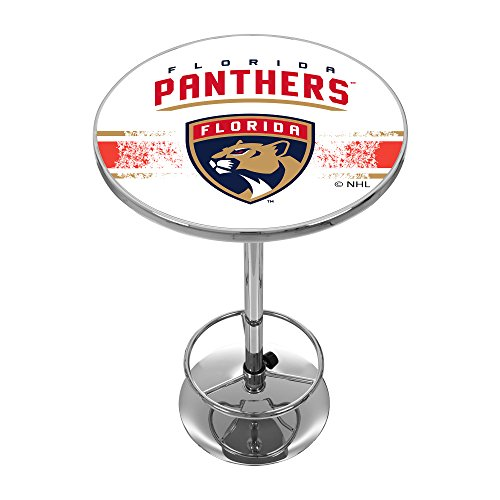 Trademark Gameroom NHL Florida Panthers Chrome Pub Table - Florida Panthers Pub Table