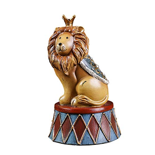 - DONGLU Elephant Piggy Bank Resin Circus Animal Crafts Living Room Decoration Gift (Color : B)