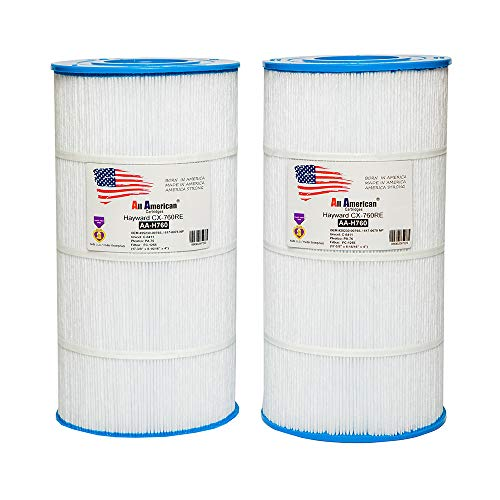 2 Pack Hayward CX760RE, Sta-Rite Posi-Clear PXC75, OEM 25230-0075S, 817-0075 N/P, Unicel C-8411, Pleatco PA76, Filbur FC-1255, Pro Clean ll 75, All American AA-H760 Replacement Pool Filter Cartridge