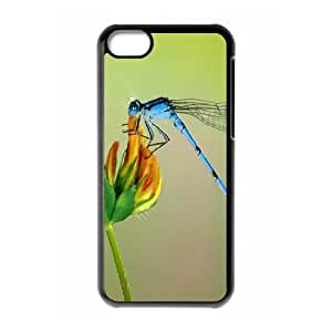 IPhone 5C Cases Dragonfly, Phone Case for Iphone 5c for Girls - [Black] Okaycosama