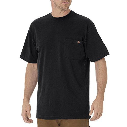 Dickies Men's Heavyweight Crew Neck Shirt, Black, 6XL Tall