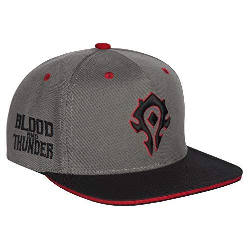 JINX World of Warcraft Horde Blood and Thunder Snapback Baseball Hat, Gray, One Size