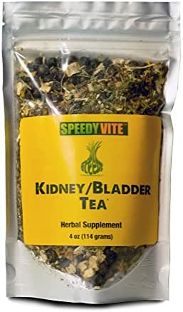 SpeedyVite Kidney Bladder Tea (4oz) Herbal Supplement Organic Cleanses & supports urinary tract health - Marshmallow root Dandelion leaf Goldenrod Juniper Hydrangea +more Natural Detox
