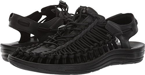 Keen Women's UNEEK Leather Sandal,Black/Raven,US 8 M by Keen