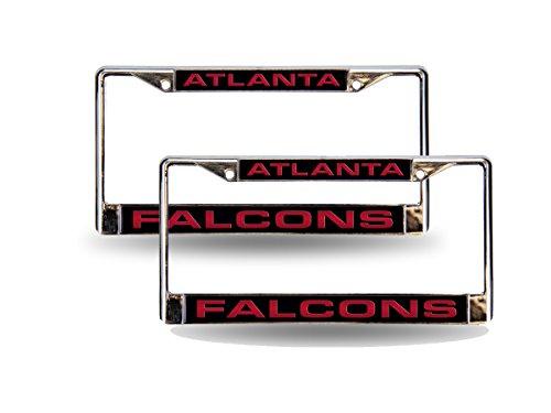Rico Atlanta Falcons NFL Chrome Metal (2) Laser Cut License Plate Frame - Falcons License Laser Atlanta Plate