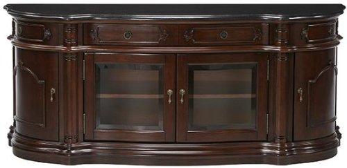 amazoncom versailles widescreen tv cabinet with glass doors glass doors antique cherry kitchen u0026 dining