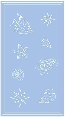 JMA So My HomeSO MY HOME - Toalla de playa de terciopelo, algodón puro, talla XXL 100 x 200 cm, diseño Sail, algodón: Amazon.es: Hogar