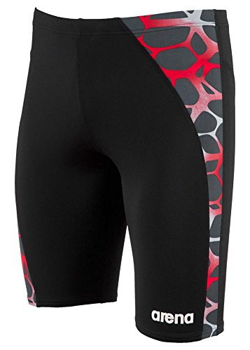 Arena Men's Carbonite Jammer, Black/Asphalt/Red, 36