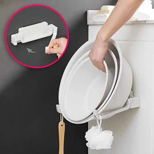 (Tpingfe Washbasin Toilet Bathroom Basin Hanging Racks Storage Rack Wall Mount Plastic)