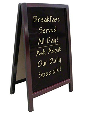 Update International ASIGN-2034 2-Sided Wood A-Frame Write-On Marker Boards, 20 by 34-Inch by Update International