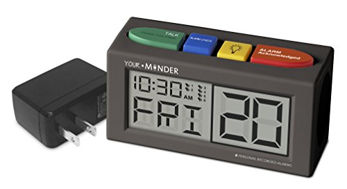 - MedCenter Interactive 6 Personalized Alarm Reminder Clock with AC Adapter