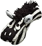 Nirvanna Designs MTZEBRA Zebra Puppet Mittens, Black/White, Toddler