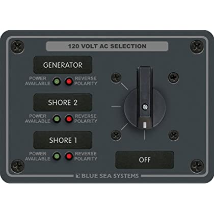 Image of AC Rotary Switch Panel 30 Ampere 3 positions + OFF, 2 Pole Battery Switches