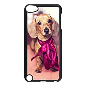 Customized Dual-Protective Case for Ipod Touch 5, Cute Dog Dachshund Cover Case - HL-694029