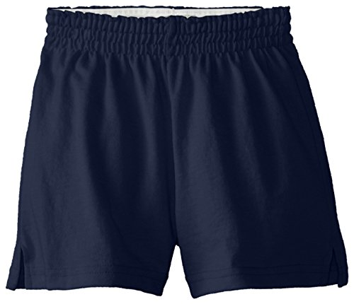 Soffe Girls' Big New Short, Navy, X-Large