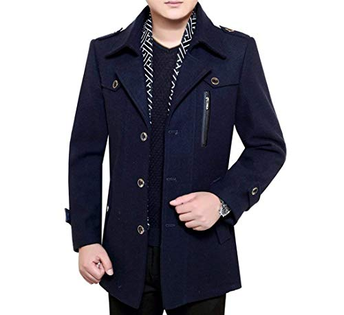 Uomo Giovane Fashion Fashion Fashion Invernale Blau Blau Blau Short Addensata Giacca da Trench Parka Cappotto Invernale Long Uomo da Uomo Marine Coat Saoye Giacche Uomo Coat Pnzqwd8d