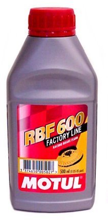 Motul 8068HL-12PK RBF 600 Factory Line Dot-4 100 Percent Synthetic Racing Brake Fluid - 500 ml, (Case Pack of 12) by Motul