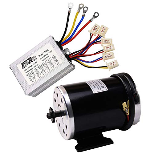 TDPRO 48V 1000W Brushed Electric Motor with Controller Kit & 11 Teeth T8F Chain Sprocket for Scooter e-Bike Go-kart Mini Bikes