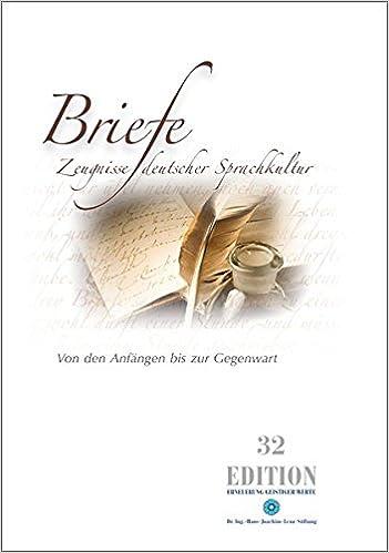 Briefe Zeugnisse Deutscher Sprachkultur Von Den Anfängen Bis Zur