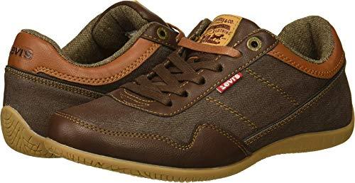 Levi's Men's Rio Nappa UL Denim Sneaker, Brown/tan, 10 M US