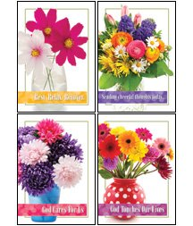 Cheerful Bouquets - Scripture Greeting Cards - NIV - Boxed - Get Well (Get Well Bouquets)