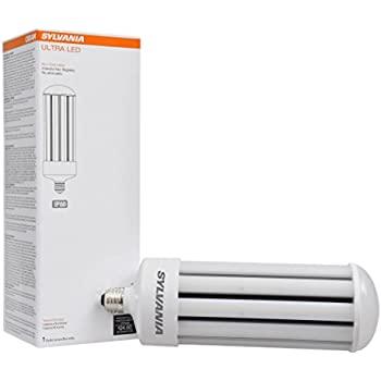 Sylvania 75157 5000K, 5000 lm, Medium Base, Self-Ballasted Ultra LED High Lumen Lamp HID, High Pressure Sodium, Metal Halide Replacement