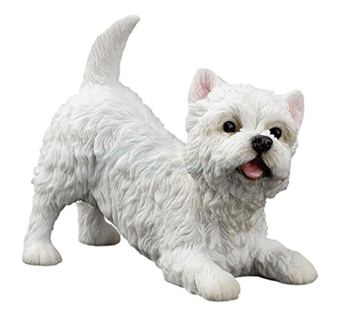 Figurine Terrier (West Highland White Terrier Figurine Statue 3 1/2 Inch Long)