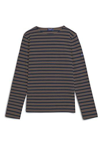 Saint James Meridien - Streifenshirt - Bretagne-Shirts COGNAC/NAVY