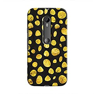 Cover It Up - Black Gold pebbles Moto G3 Hard case