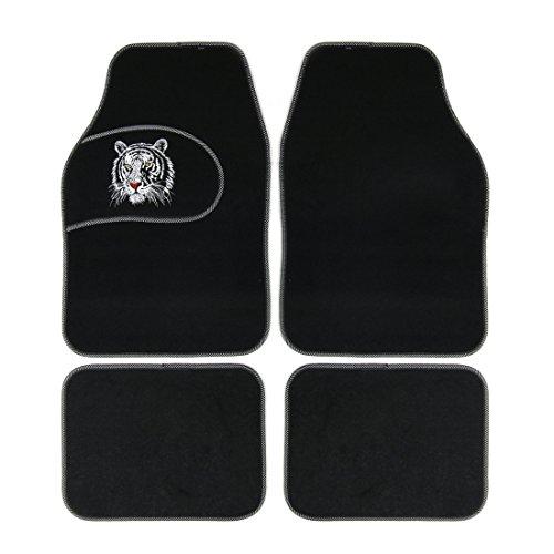 white and black car floor mats - 1