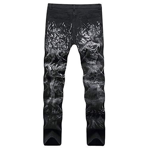 Imprime Norma Los Moda Atractivos Vaqueros De Con Hombres Simple Pantalones Único Diseño Patrones Adelgaza Estilo 2018 Pierna Negros La Stil2 Derecho En qTZESvywx