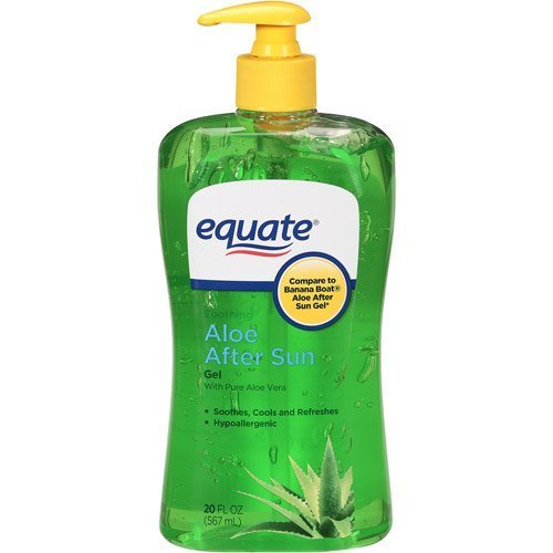 Equate Aloe Vera Aftersun Gel, 20 oz (Banana Boat Soothing Aloe After Sun Gel)