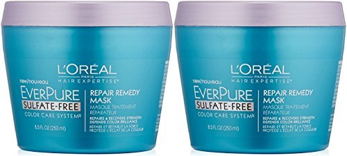 L'Oreal Paris Hair Care Expertise Everpure Repair and Defend Rinse Out Mask, 8.5 Fluid Ounce(Pack of 2)