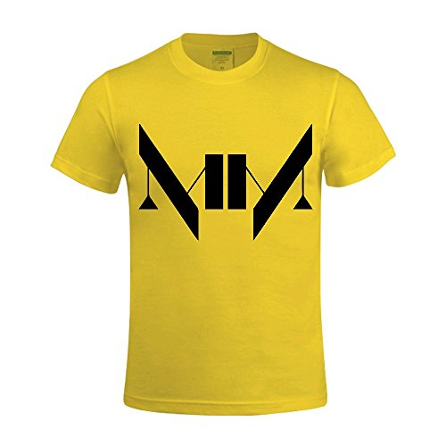 Timico Vector MM Logos DesignPersonalized O neck Men Tshirts Yellow