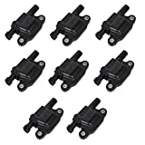 2010 camaro ignition coil - 8 Packs 12611424 Ignition Coil Pack for Cadillac Chevy GMC Pontiac V8 Engine Replace # 12570616 8125706160 33-1192 673-7002 D510C (8 Packs)