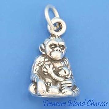Amazon.com: Mother Gorilla con mono de bebé APE 3D .925 ...