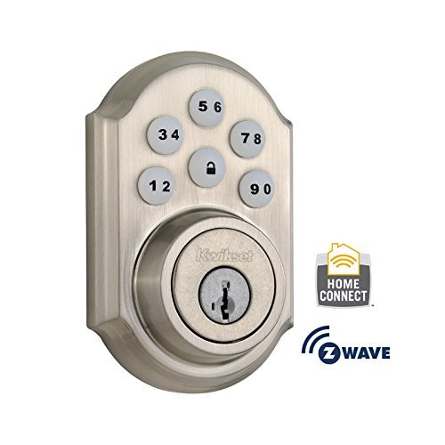 Kwikset 910 Z-Wave SmartCode Electronic Deadbolt featuring SmartKey in Satin Nickel by Kwikset
