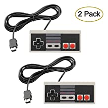 AGPtek® NES Classic Mini Edition Controller 2 pcs, NES Gamepad with 6ft Extend Link Extension Cable For Nintendo Mini NES Classic Edition, Wired Joy pad & Gamepads Controller With 1.8m Cable