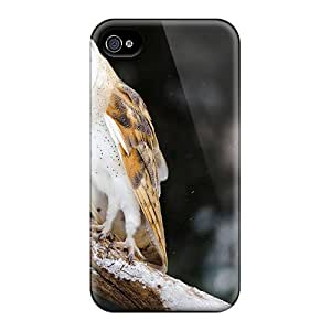 Hot New Owl With Her Lunch Case Cover For Iphone 4/4s With Perfect Design