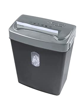 Royal Machines Cx66 6-sheet Cross Cut Shredder With Auto Startstop & Reverse - Black With Silver Top 0