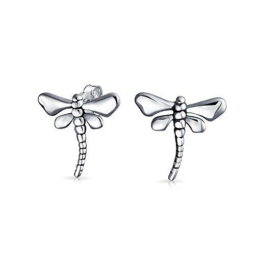 Tiny Garden Insect Dragonfly Stud Earrings For Women For Teen 925 Sterling Silver