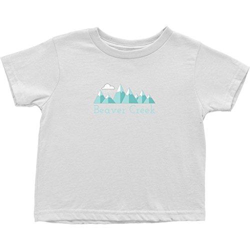 Tenn Street Goods Beaver Creek, Colorado Mountain Snow Storm - Unisex Toddler T-Shirt (3T, White)