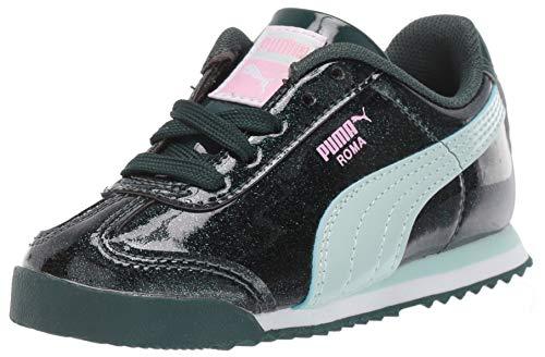 PUMA Unisex-Baby Roma Sneaker, Ponderosa Pine-fair Aqua, 4 M US Toddler
