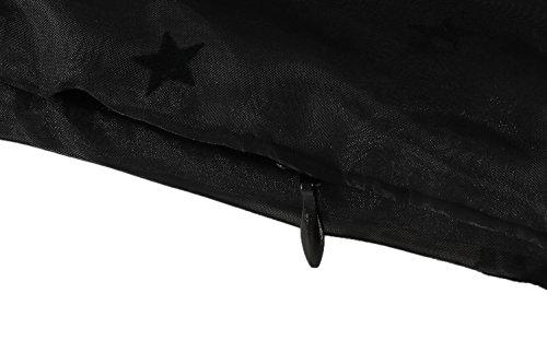 cooshional Vestido de Cóctel Fiesta Elegante para Mujer Estilo Retro Vintage Malla Encaje negro