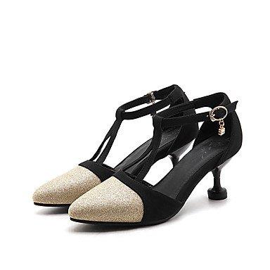 LvYuan Mujer-Tacón Stiletto-Confort-Sandalias-Oficina y Trabajo Informal Fiesta y Noche-Semicuero-Morado Oro Plata Purple